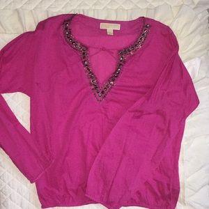 Michael Kors beaded blouse